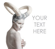 Женщина с тел-искусством козы Стоковая Фотография RF