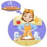 Женщина с тортом Стоковая Фотография RF