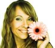Женщина с цветками Стоковые Изображения RF