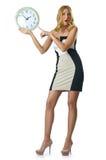 Женщина с часами Стоковая Фотография RF