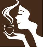 Женщина с чашкой Стоковое Фото