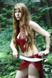 Женщина с шпагой стоковые изображения