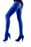 Женщина с длинними ногами Стоковые Изображения RF