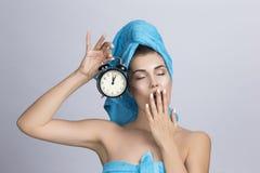 Женщина с creme ночи Стоковое Фото