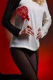 Женщина с lollipop Стоковое фото RF