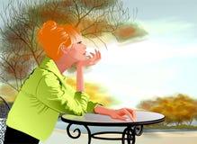женщина таблицы seating иллюстрации Стоковая Фотография