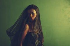 Женщина тайны стоковые фотографии rf
