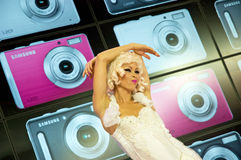 женщина танцы модельная Стоковое Фото