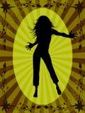 женщина танцы Иллюстрация штока