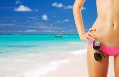 женщина тела пляжа красивейшая стоковые изображения rf