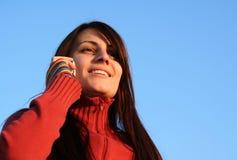 женщина телефона говоря Стоковая Фотография RF
