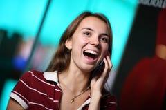 женщина телефона говоря Стоковые Изображения RF