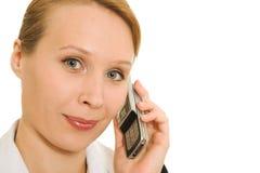 женщина телефона дела говоря Стоковые Фото