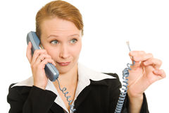 женщина телефона дела говоря Стоковые Фотографии RF