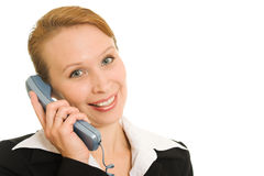 женщина телефона дела говоря Стоковые Изображения
