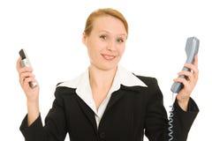 женщина телефона дела говоря Стоковые Изображения RF