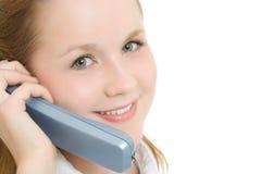 женщина телефона дела говоря Стоковая Фотография RF