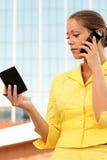 женщина телефона дела милая говоря Стоковое Изображение