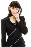 женщина телефона дела сь говоря Стоковое Изображение