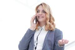 женщина телефона дела успешная говоря Стоковое Изображение RF