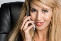 женщина телефона дела Стоковые Изображения