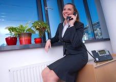 женщина телефона дела Стоковое Фото