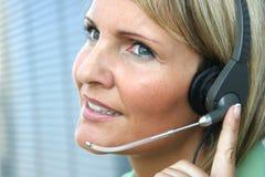 женщина телефона звонока дела Стоковое Фото