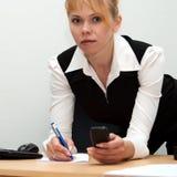 женщина телефона звоноков Стоковое Фото