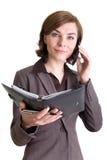 женщина телефона календара дела Стоковая Фотография RF
