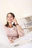 женщина телефона офиса дела ся Стоковое Фото