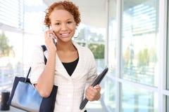 женщина телефона офиса дела Стоковая Фотография RF