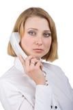 женщина телефона телефонной трубки дела Стоковые Фото