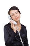 женщина телефона телефонной трубки дела Стоковая Фотография RF