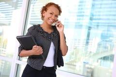 женщина телефона дела милая Стоковое Изображение