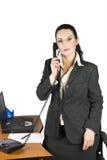 женщина телефона дела Стоковые Фотографии RF