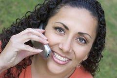 женщина телефона Стоковые Фото