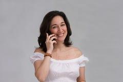 женщина телефона Стоковые Фотографии RF