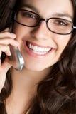 женщина телефона eyeglasses Стоковое фото RF