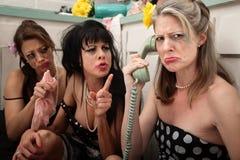 женщина телефона upset Стоковые Изображения RF