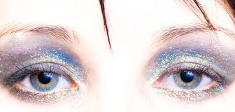 женщина тени глаза Стоковая Фотография RF