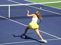женщина тенниса стоковые фотографии rf