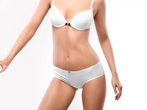 женщина тела совершенная красивейшая женщина нижнего белья Стоковые Изображения RF