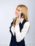 женщина телефона дела ся говоря Стоковое Изображение RF