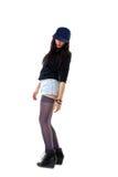 женщина типа мостовья grunge стороны бейсбольной кепки Стоковая Фотография RF