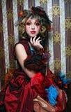 женщина типа съемки способа куклы творческо составьте стоковое фото rf