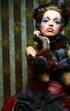 женщина типа съемки способа куклы творческо составьте стоковые фотографии rf