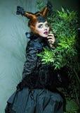 женщина типа съемки способа куклы творческо составьте стоковая фотография rf