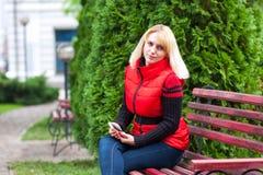 женщина типа фото телефона 60s Стоковые Изображения RF
