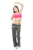 женщина тренировки танцы стоковое изображение