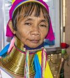женщина трибы портрета padaung Стоковое фото RF